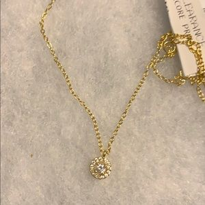 Sterling silver 18k yellow gold plated necklace